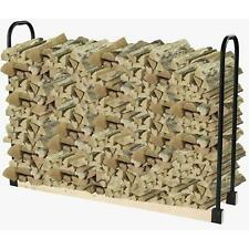 Firewood Rack Bracket Kit Log Storage Durable Steel Holder Adjustable Organizer