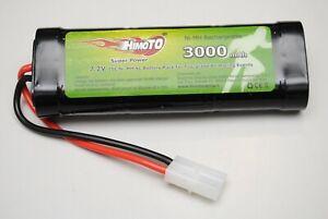03019 3000mAh 7.2v Pacco Batteria HIMOTO Ricaricabile Tamiya/PACK BATTERY HIMOTO