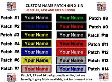 "**LOVE IT OR IT'S FREE** Custom Embroidered NAME TAG ""Iron on"", Free Shipping"
