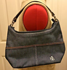 Ralph Lauren Purse Designer Blue Jean Blue Shoulder Bag
