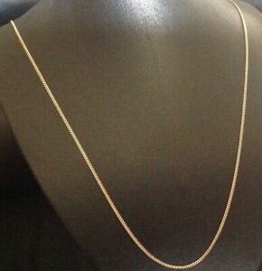 """9CT YELLOW GOLD & SILVER CURB CHAIN / NECKLACE - 14"""" 16"""" 18"""" 20"""" 22"""" 24"""""""