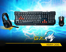 Genius KMH-200 Gaming Combo Keyboard English Russian Headset Mouse Red LED USB