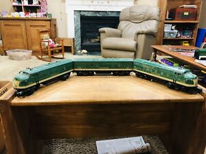 Used Lionel 2356 Green Southern F3 ABA Diesel Engines with Worn & Faded Paint