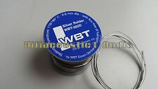 1meter OF WBT 4% Silver Solder Wire WBT-0820 0.8mm Diameter Germany hifi