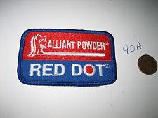 NEW RED DOT ALLIANT POWDER SEW ON EMBLEM PATCH RIFLE GUN FIREARM HUNTING