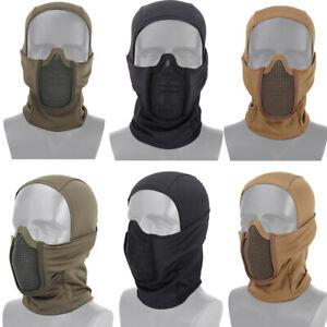 Balaclava Mesh Men Bandana Airsoft Paintball NeckScarf Face Cover Motorcycle US