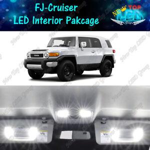 White Interior LED Lights + Side Mirror Lights for 2007 - 2014 Toyota FJ Cruiser