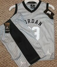 New! Boys Nike Air Jordan Summer Outfit (Muscle Shirt, Shorts; Gray) - Size 7