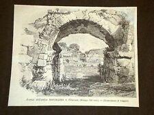 Avanzi dell'antico Anfiteatro di Siracusa Sicilia
