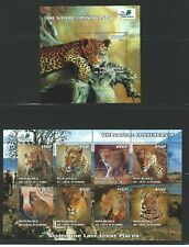Ivory Coast  Nature Conservancy 2003 Wild Cats Souvenir Sheet and Sheet of 8 CTO