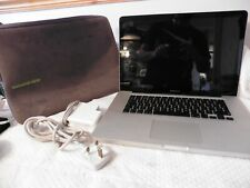 """Apple MacBook Pro A1286 2.4GHz 15.4"""" Laptop NO BATTERY reset & working FREE P&P"""