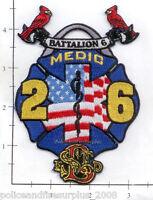 Missouri - St Louis Medic 26 Battalion 6 MO Fire Dept Patch - Cardinals