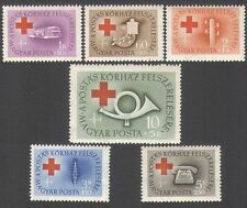 Hungary 1957 Red Cross/Medical/Health/Coach/Bus/Telephone/Radio 6v set (n34945)