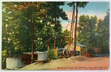 Postcard Oil City PA - Natural Crude Oil Drilling Rig
