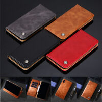 For Samsung Galaxy Note 10 Plus 9 8 5 4 Business Leather Flip Wallet Case Cover
