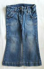 Jeans Hose Mädchen 92  C&A Palomino blau verstellbarer Bund Stickerei J6