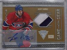 11-12 Titanium Prime Jersey auto Scott Gomez 45/50-Montreal Canadiens SSP