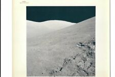 Original NASA Red Number Apollo 17 Lunar Surface Color Photo Station 8 Footprint