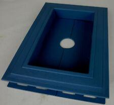 Recessed Split Mount Vinyl Mounting Block Blue Z15061 #7h4
