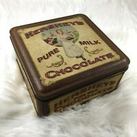 Hershey Girl Vintage 1900s Reproduction Tin 90s 1992 Hersheys Collectible Tin