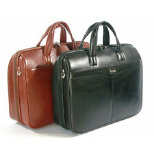 Leather Briefcase Black Laptop Briefcase Genuine Leather Business Document Bag