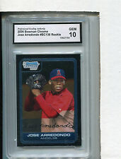 2006 Bowman Chrome Card Jose Arredondo ROOKIE L A Angels GRADED GEM 10 # BC 136