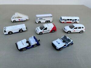 REALTOY Airline Vehicles, Buses, Etc 1/64 Lot of 8 Qantas, Emirates, Etc