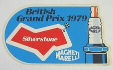 ADESIVO AUTO F1 anni '80 /Old Sticker SILVERSTONE 1979 MAGNETI MARELLI (cm 13x8)