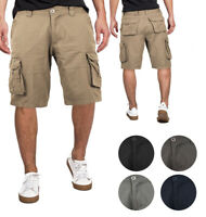 Men's Multi Utility Pockets Relaxed Fit Outdoor Casual Cotton Army Cargo Shorts