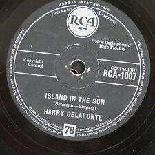 78rpm HARRY BELAFONTE island in the sun / cocoanut woman