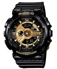 Casio Baby-G * BA110-1A Anadigi Gloss Black with Gold for Women COD PayPal