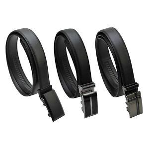 Herren Automatik Gürtel Riemen bis 160 cm schwarz Breite 3,0 cm mit Schnalle