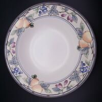 "9"" Mikasa Garden Harvest Intaglio Large Rim Soup Bowl"