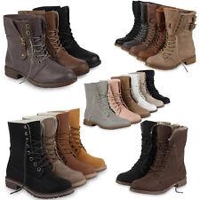 Damen Worker Boots Stiefeletten 70707 Stiefel Gr. 36-42 Schuhe