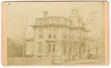RARE NEW YORK MANSION ARCHITECTURAL CDV: New York State Home Carte de Visite