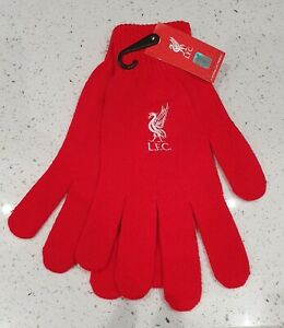 Liverpool FC Official Red Adult Gloves- Great Gift Idea