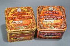 Two Cookie Tins, Mont St. Michel, France, La Mere Poulard 2014 Empty