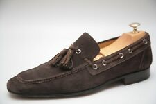 Magnanni Mens Brown Suede Loafers Shoes UK 8