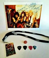 Witch 80's Band Autograph Photo the Hex, guitar picks, Lanyard, button 8x10 RARE