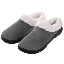 Men's Fuzzy Warm Slippers Memory Foam  Slip On Indoor House Shoes