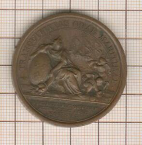 """Medal Louis XIV Mauger """" Vains Projects de La Fleet Dutch """" 1674"""