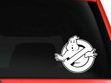 Ghostbusters logo sign on car truck SUV laptop macbook decal sticker in white