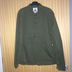 Cape Heights Hyak Popover Smock 1/4 Button Overshirt Size XL Good Condition