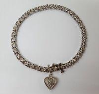 Ladies 10 Karat White Gold and Diamond Bracelet #1011