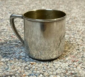 """WM Rogers & Son -- SILVER-PLATE BABY CUP - Christening Cup - """"Joanne"""""""