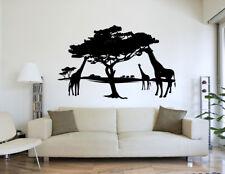 Afrika Wüste Giraffen Landschaft Tiere Schwarz Wandtattoo 95 x 60cm Motiv #85