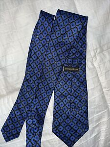 Stefano Ricci 62 X 4 Mens Blue Geometric 100% Silk ITALY Neck Tie