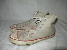 Vintage Converse Chuck Taylor High Tops distressed Usa Made Sz 10 Used!