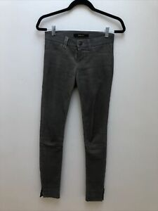 J Brand Grey Leather Trousers 24