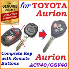 Fit Toyota Aurion complete Remote key 4 Buttons - Year 2006 to 2011